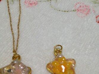 星形デージーネックレス・オレンジの画像