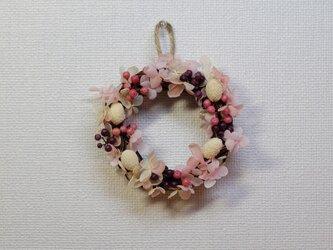 大人可愛い♡ピンクのミニリース♪の画像