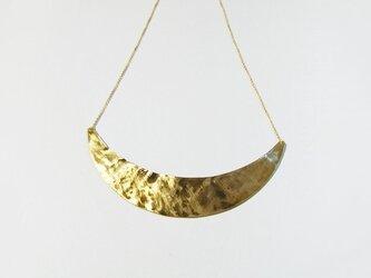 (再販)真鍮の三日月ネックレスの画像