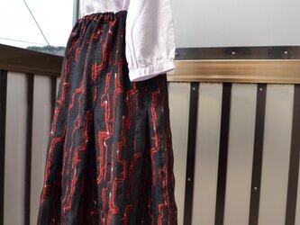 着物リメイク プリーツ入りスカート J-7の画像