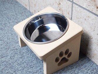 猫用 食器台 S 肉球デザインの画像