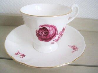 パラのブーケのマグカップ&ソーサーの画像