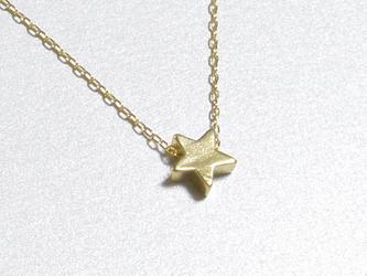 ひとつぶ星のネックレスの画像