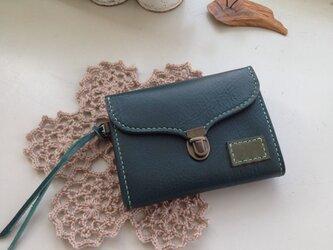 ミニ財布☆グリーン×グリーンの画像