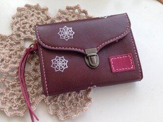 ミニ財布☆チョコ×ピンクの画像