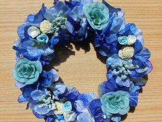 花リース(ブルー)-ひき潮の画像
