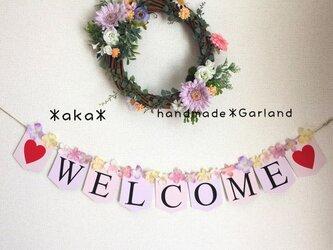 *ウェディング ガーランド*WELCOME*ラプンツェルカラー お花 前撮り ウエディングアイテムの画像