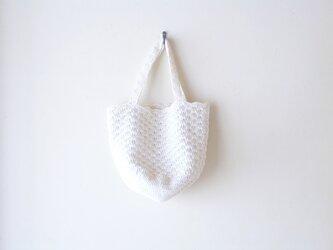 松編みのトートバッグ(きなり)の画像
