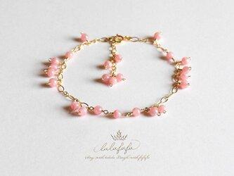 Brillant Bouquet◆Rose◇揺れるブレスレット~アルゼンチン産インカローズの画像