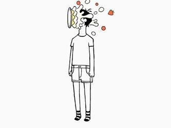 顔面ケーキ 男子 【 Tシャツ 】の画像