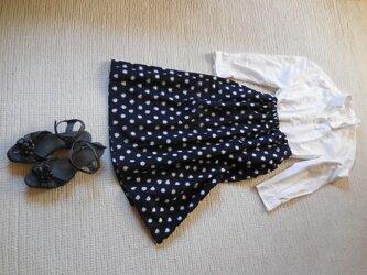 セール!みずたまの久留米絣のスカート   ミディアム(みずたまの大きさ1.5cm)の画像