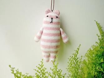 amigurumi * クーマmini(ピンク×白)の画像
