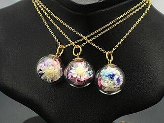 Flower glass Ball Pendant ~桜&桃~の画像