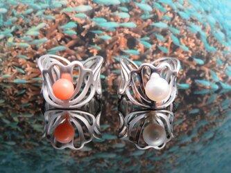 Shell Flower Ring  南国の海中を連想するリングの画像