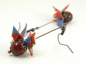 オリガミピアス・蝶(Papillon Y18BOP1DBr)の画像