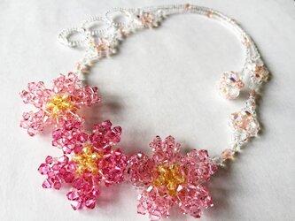 満開桜のネックレスの画像