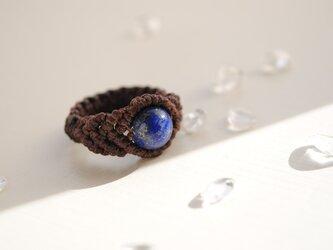 ラピスラズリ 編み指輪*8㎜の画像
