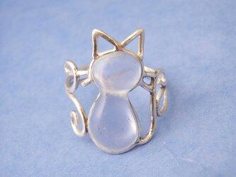 透明猫のリング(シルバー)の画像