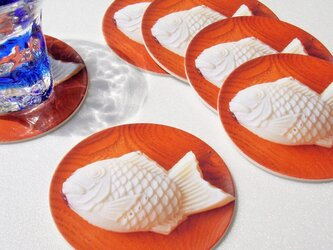 「白い鯛焼き」のコースター♪の画像