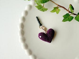 HEART イヤホンジャック(紫)の画像