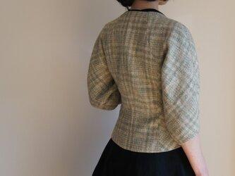ツボミ膨らむお袖のジャケット Joe イタリア製シルクリネン◆1点物◆ の画像