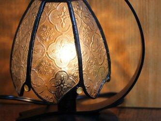 フローラガラスのミニランプの画像