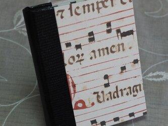 ★お名前入り★  my メモ帳ホルダー *クラッシック音符(黒)*の画像