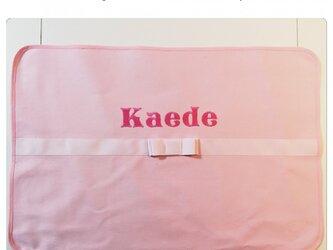 女の子ランチョンマット大(ピンク×ピンク)の画像