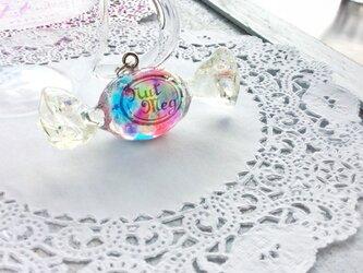 【受注生産】ロゴ入りキャンディのペンダントトップ・Rainbow Flakes(仕上がりが選べます)の画像