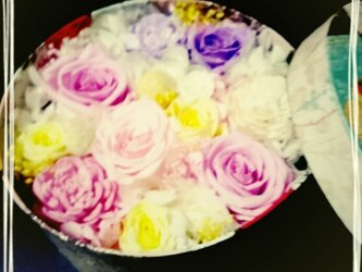 カラフルお花のBOXの画像