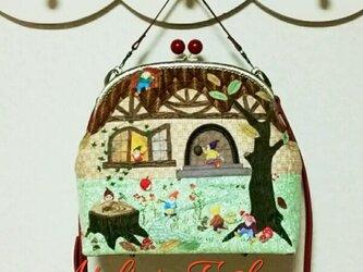 ✿7人の小人の森のおうち✿がま口バッグの画像