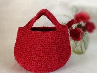 裂き編みバッグ(ラウンドタイプの画像