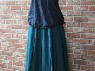 タックギャザースカート オールドグリーンブルーの画像