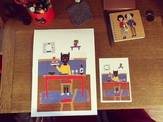 ポスター&ポストカードのセット(北欧雑貨ショップ店長のパーティー)の画像
