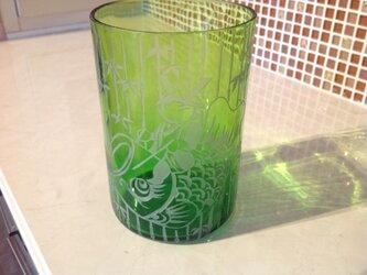 大人〜な端午の節句飾りグラスの画像