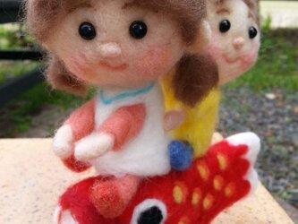 鯉のぼり姫&太郎の画像