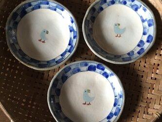 再・再・再出品 青いとりの深皿の画像
