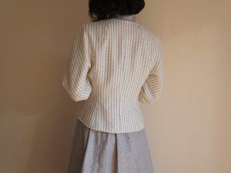 ツボミ膨らむお袖のジャケット Joe ストライプコットン◆1点物◆ の画像