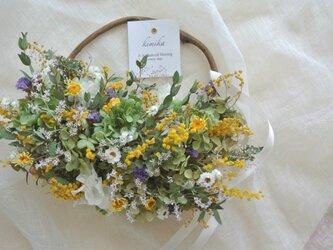 hanging basket wreath. acの画像