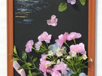 花の壁掛け-朧月-の画像