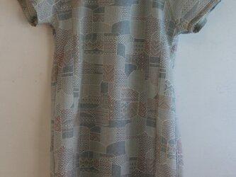 ウール 半袖ワンピース Mサイズの画像