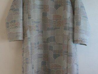 ウール 7分袖ワンピース Mサイズの画像