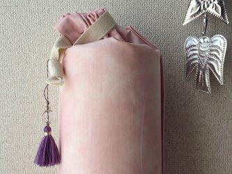 ダイダイ柄のヨガマットケース ベビーピンクMサイズの画像