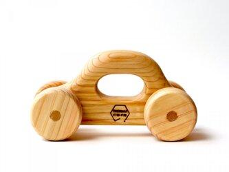 【木製】くるまのおもちゃ:ひのき(名入れ可)の画像