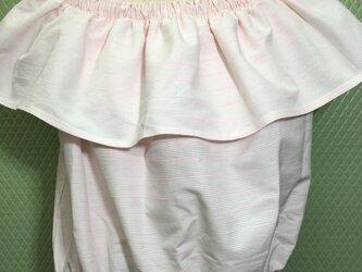 new!【夏物】かわいいピンクのフリル付トップス<送料込>の画像
