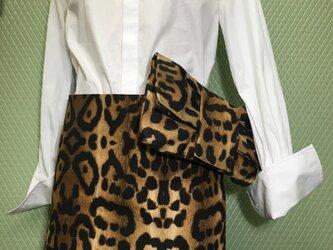 豹柄スカート&クラッチバックセット<送料込>の画像