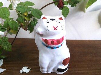 まねき猫 土人形の画像