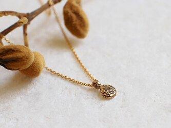 k14 YG 一粒ダイヤ しずく型 ネックレス ゴールド【n_k14_002】の画像
