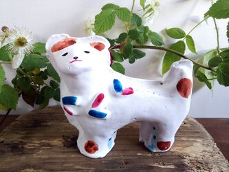 狛犬 土人形の画像