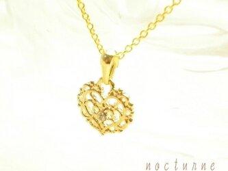 14kgf~ロマンティックハートのネックレスの画像
